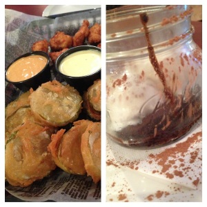 Fried Pickles and Chocolate Cake
