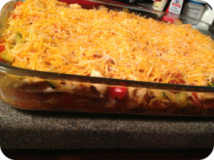 Mexican chicken casserole 2