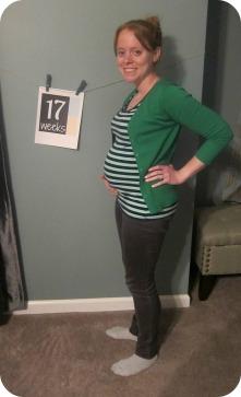 Week 17 baby bump 2014
