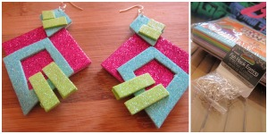 Glitter foam earrings