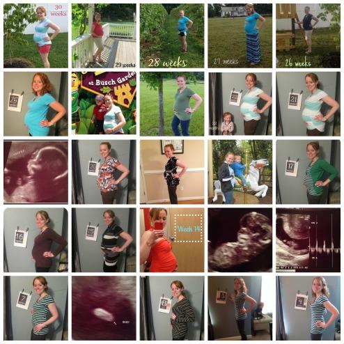 30 week bumpdate collage edit