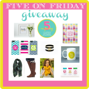 Five on Friday Fall Giveaway