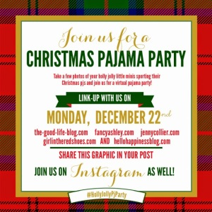 Holly Jolly Pajama Party Invitation  650x650