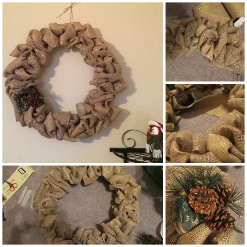 Winter burlap wreath