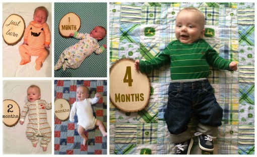 Sage - 4 month collage