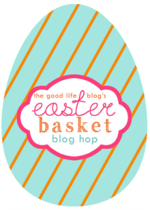 easter egg blog hop logo - the good life blog