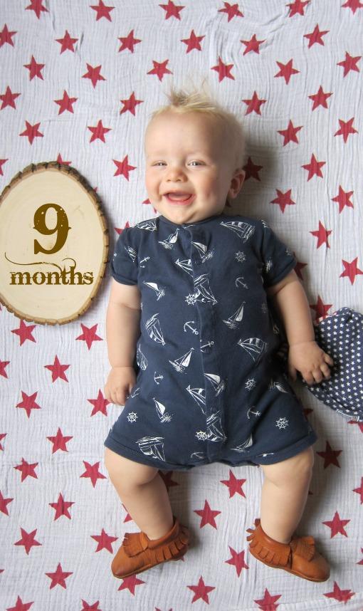 Sage 9 months nine onesie