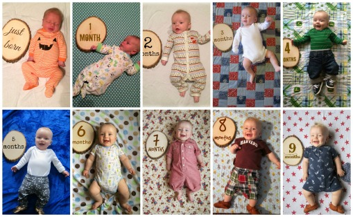Sage nine 9 month collage