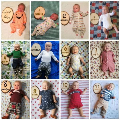 Sage - 11 month onesie collage 2015
