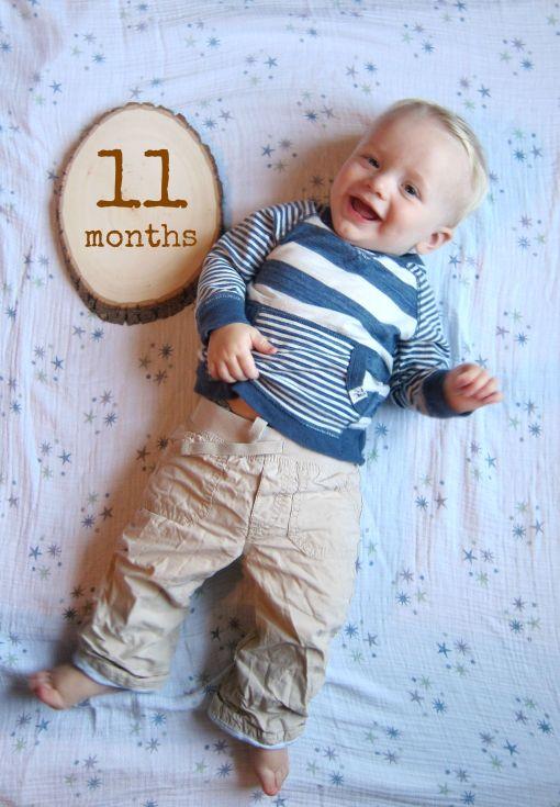 Sage - 11 months monthly onesie